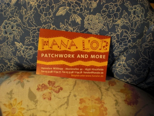 Hana Lor, Patchwork and More, Hannelore Wittkopp, www.hanalor.de